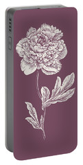 Peony Purple Flower Portable Battery Charger