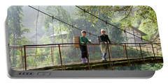 People And Children From Sapa, Mountainous Area Of Northern Vietnam In Their Daily Life. Portable Battery Charger