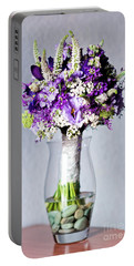 Perfect Bridal Bouquet For Colorful Wedding Day With Natural Flowers. Portable Battery Charger
