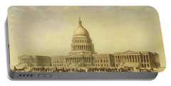 Perspective Rendering Of United States Capitol Portable Battery Charger