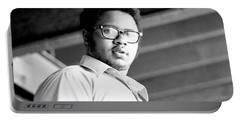 Perturbed High School Student, With Substantial Eyeglasses, 1972 Portable Battery Charger