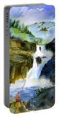 Petroglyph Falls Fishing Portable Battery Charger