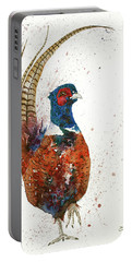 Pheasant Portrait Portable Battery Charger
