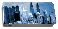 Philadelphia Blue - Watercolor Painting Portable Battery Charger