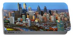 Philadelphia Skyline At Dusk 2018 Portable Battery Charger