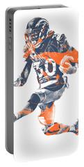 Phillip Lindsay Denver Broncos Pixel Art 2 Portable Battery Charger
