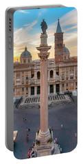 Portable Battery Charger featuring the photograph Piazza Santa Maria Maggiore by Fabrizio Troiani