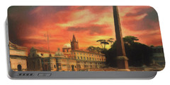 Piazza Del Popolo Rome Portable Battery Charger