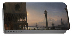 Piazza San Marco By Moonlight, Venice Portable Battery Charger