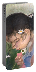 Picking Daisies Portable Battery Charger