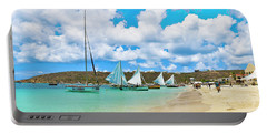 Picture Perfect Day For Sailing In Anguilla Portable Battery Charger