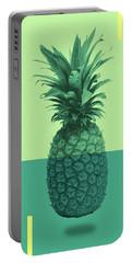 Pineapple Print - Tropical Decor - Botanical Print - Pineapple Wall Art - Blue, Teal, Aqua - Minimal Portable Battery Charger