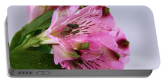 Pink Alstroemeria-4 Portable Battery Charger