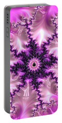 Portable Battery Charger featuring the digital art Pink And Purple Abstract Fractal by Matthias Hauser