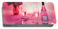 Pink Champagne Portable Battery Charger