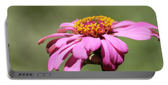 Pink Coneflower In Pastel Portable Battery Charger