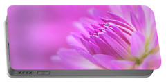 Portable Battery Charger featuring the photograph Pink Dahlia Dreams by Mary Jo Allen