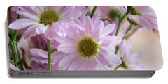 Pink Daisies-1 Portable Battery Charger