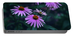 Pink Echinacea Portable Battery Charger