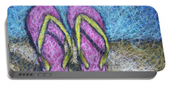 Pink Flip Flops Portable Battery Charger