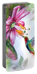 Pink Flower For Hummingbird Portable Battery Charger