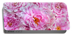 Pink Flowers Everywhere Portable Battery Charger