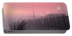 Pink Fog At Dawn Portable Battery Charger