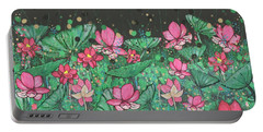 Pink Lilies Digital Change1 Portable Battery Charger
