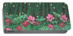Pink Lilies Digital Change2 Portable Battery Charger