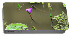 Pink Lily Vietnam Style Portable Battery Charger