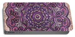 Pink Mandala Portable Battery Charger