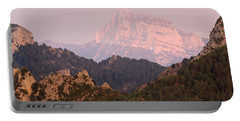 Portable Battery Charger featuring the photograph Pink Pena Montanesa by Stephen Taylor