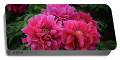 Pink Peony Cluster Portable Battery Charger