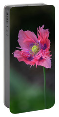 Portable Battery Charger featuring the photograph Pink Poppy by Dale Kincaid