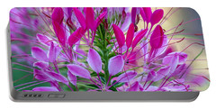 Pink Queen Flower Portable Battery Charger