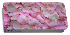 Pink Rose Petals Portable Battery Charger