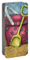 Pink Sand Pail Portable Battery Charger