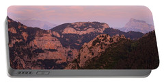 Pink Skies Above Pena Montanesa Portable Battery Charger