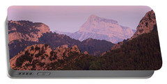 Pink Skies And Alpen Glow In The Anisclo Canyon Portable Battery Charger