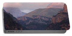 Pink Skies In The Anisclo Canyon Portable Battery Charger