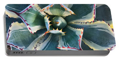 Portable Battery Charger featuring the photograph Pinwheel Succulent by Tom Gresham