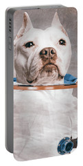 Pitbull Portrait Portable Battery Charger