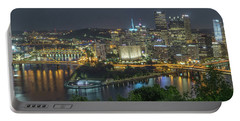 Portable Battery Charger featuring the photograph Pittsburgh Lights by David R Robinson