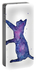 Playful Galactic Cat Portable Battery Charger