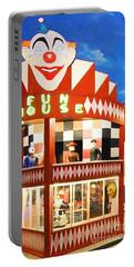 Portable Battery Charger featuring the photograph Playland At The Beach Fun House San Francisco Nostalgia 20181224 by Wingsdomain Art and Photography
