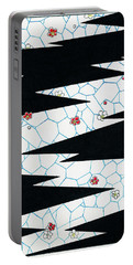 Plum Blossoms And Lightning - Japanese Traditional Pattern Design Portable Battery Charger