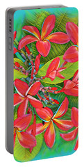 Plumeria Sunburst Portable Battery Charger
