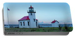 Point Robinson Lighthouse At Maury Island, Wa Portable Battery Charger