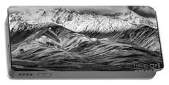 Polychrome Mountain, Denali National Park, Alaska, Bw Portable Battery Charger