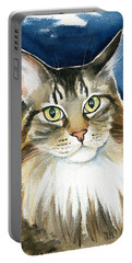 Pookie Maine Coon Portrait Portable Battery Charger